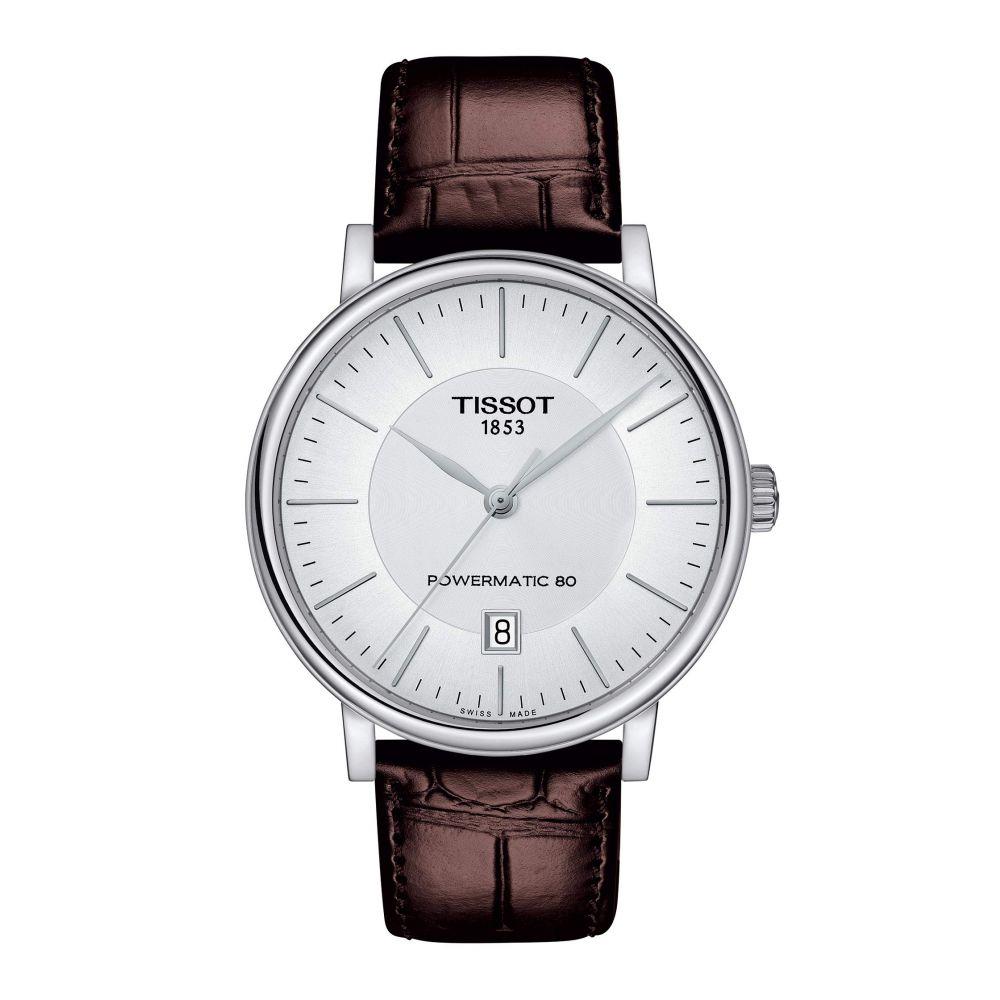 ティソ Tissot メンズ 腕時計 【T-Classic Carson Premium Powermatic 80 - T1224071603100】Silver