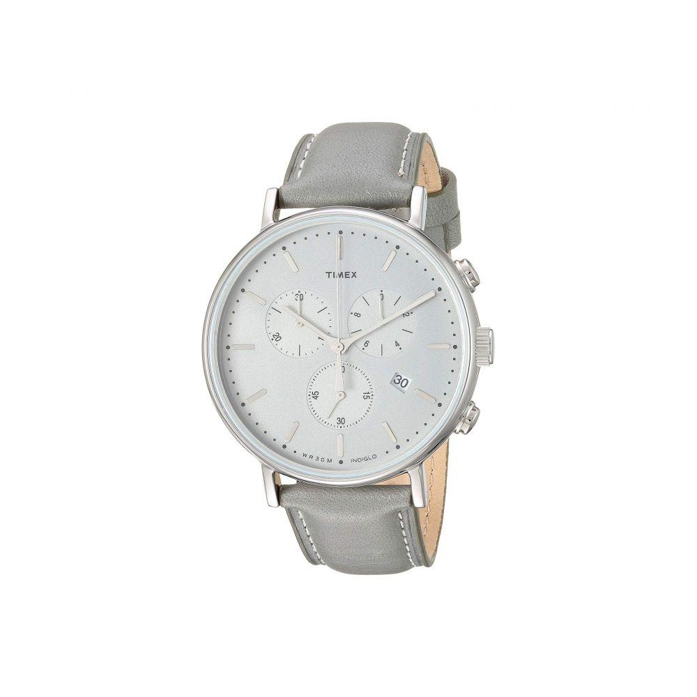 タイメックス Timex メンズ 腕時計 クロノグラフ【41 mm Fairfield Chronograph】Silver/Silver/Grey