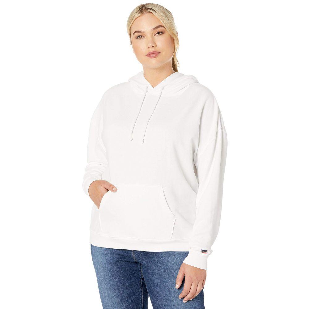 リーバイス Levi's Plus レディース パーカー トップス【Graphic Hoodie】Sportswear Logo White