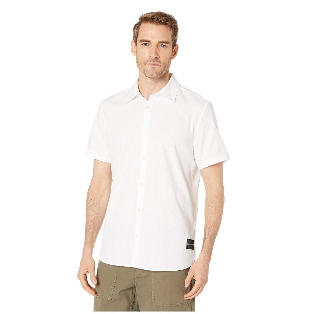 カルバンクライン Calvin Klein Jeans メンズ 半袖シャツ トップス【Short Sleeve Oxford Button Down Shirt】Standard White