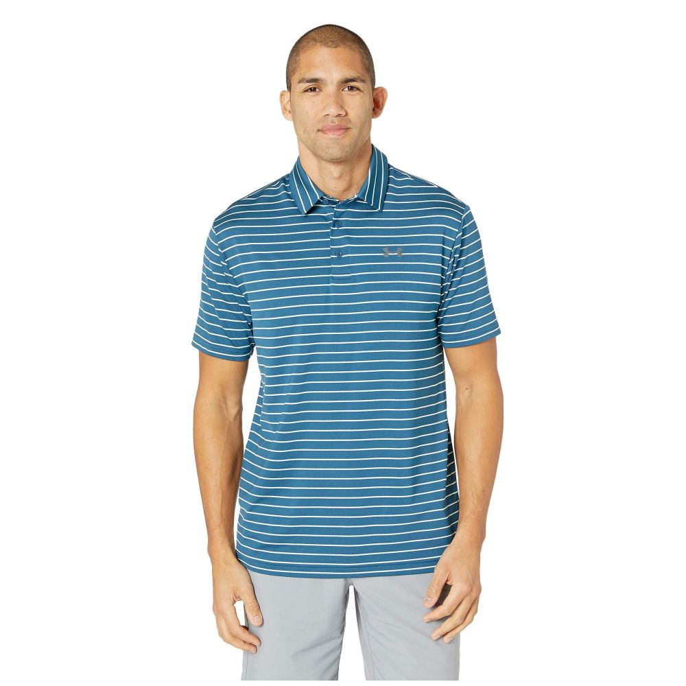 アンダーアーマー Under Armour Golf メンズ ポロシャツ トップス【Playoff Polo 2.0】Petrol Blue/Aqua Foam/Pitch Gray
