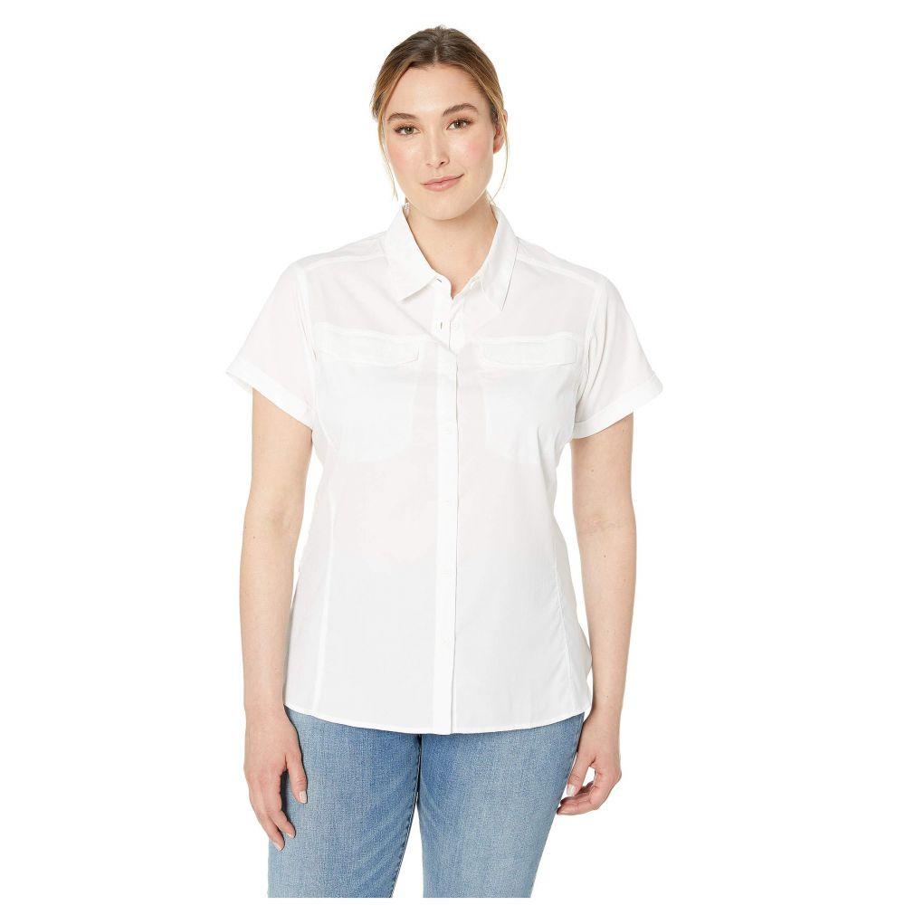 コロンビア Columbia レディース ブラウス・シャツ 大きいサイズ トップス【Plus Size Silver Ridge(TM) Lite Short Sleeve Shirt】White
