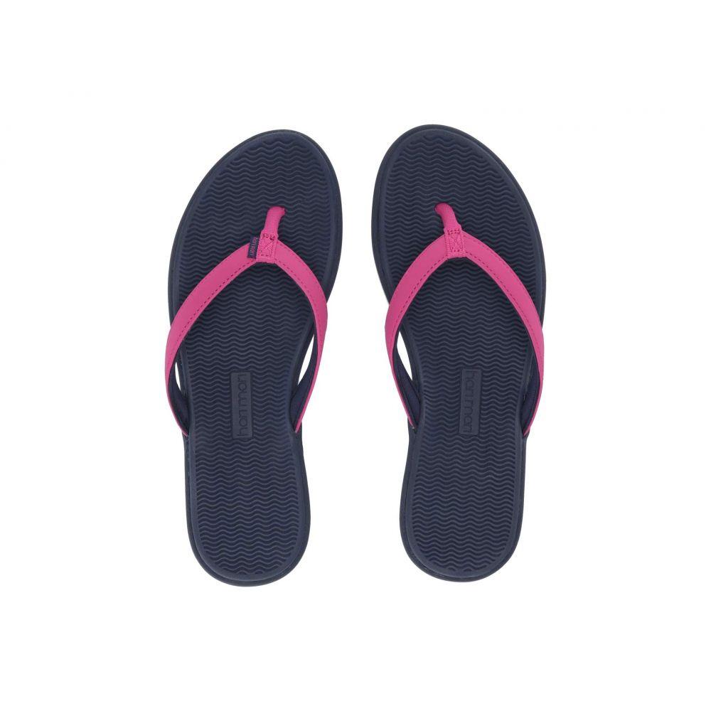 ハリマリ hari mari レディース ビーチサンダル シューズ・靴【Beachside】Berry/Navy