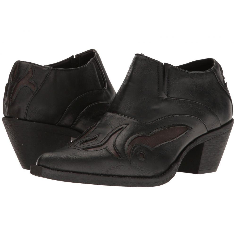 ローパー Roper レディース ブーツ シューズ・靴【Bootie Boot】Black/Brown Inlay