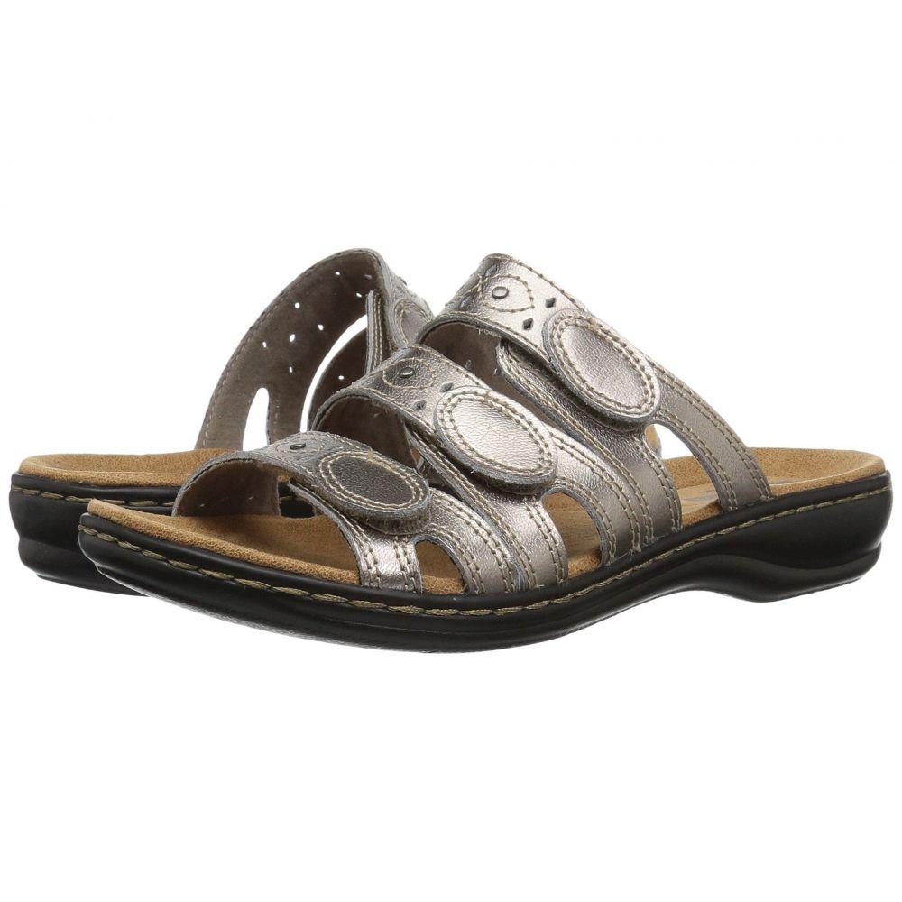 クラークス Clarks レディース サンダル・ミュール シューズ・靴【Leisa Cacti Q】Pewter Leather