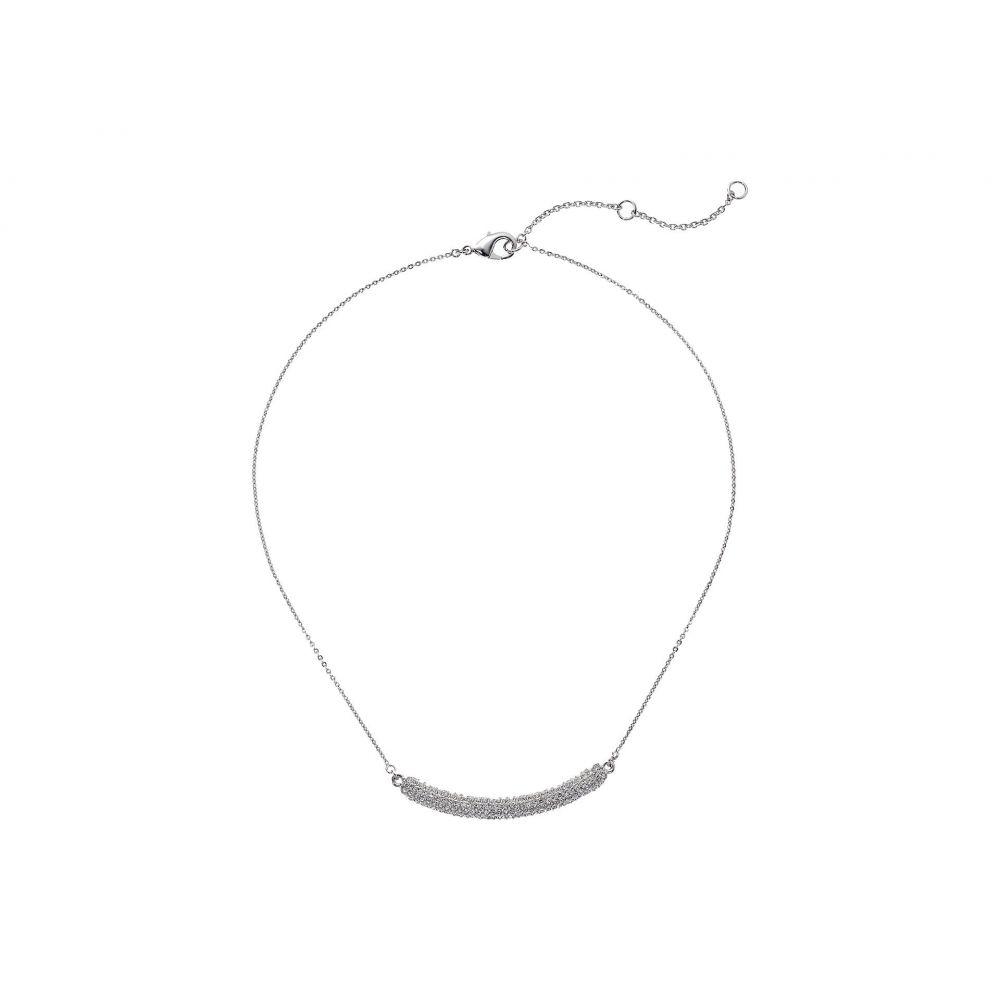 ニナ Nina レディース ネックレス ジュエリー・アクセサリー【Pave Bar Swarovski Necklace】Rhodium/White