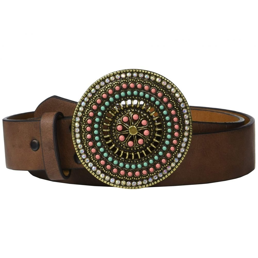 アリアト Ariat レディース ベルト 【Classic Strap Multi Stone Round Buckle Belt】Brown