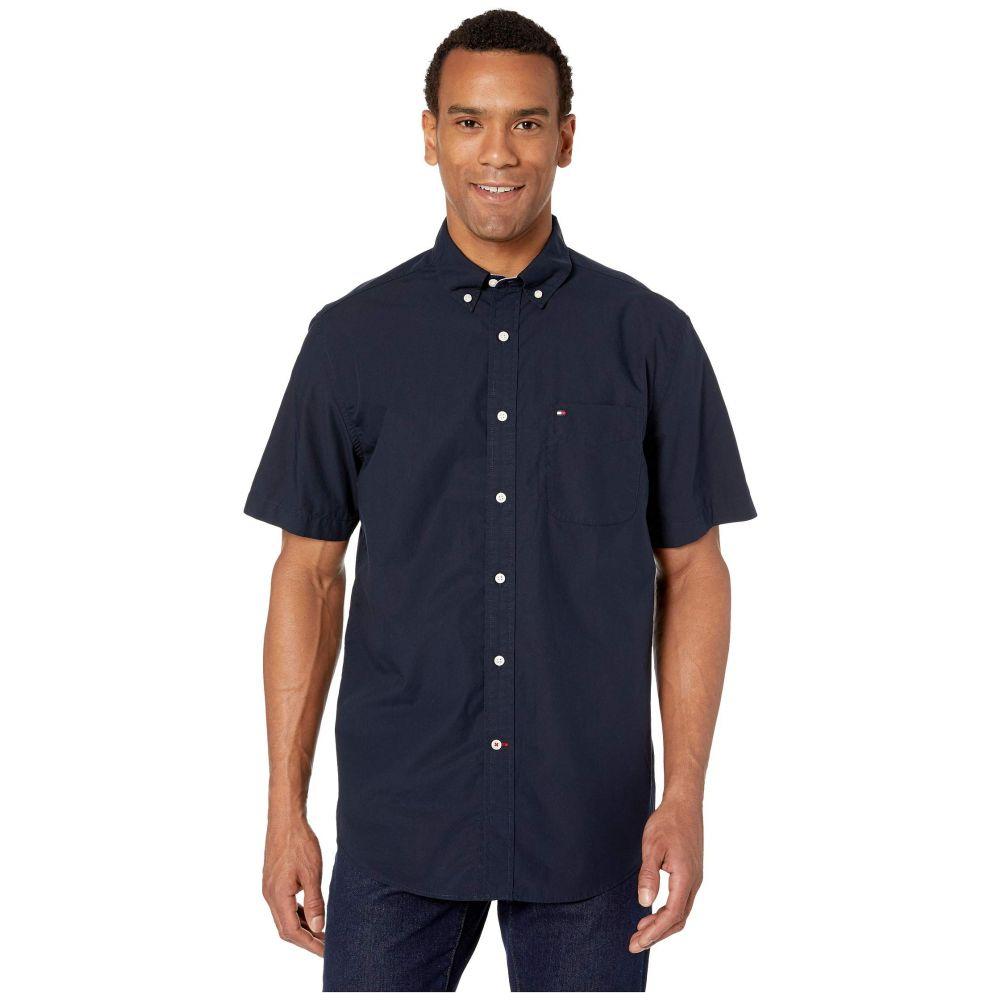 Short トップス【Maxwell Blazer Shirt】Navy Sleeve Hilfiger メンズ Down Tommy ヒルフィガー Button トミー 半袖シャツ