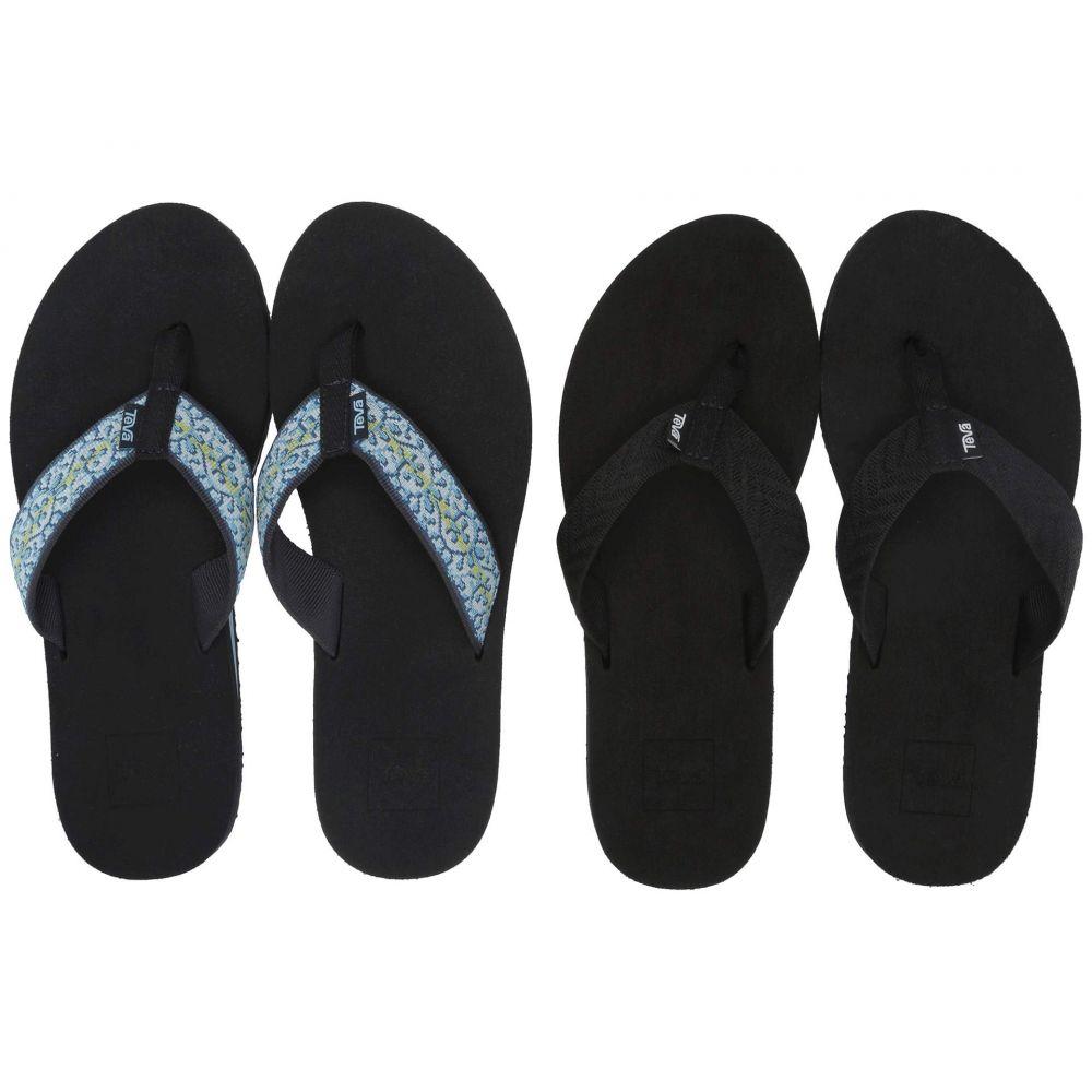 テバ Teva レディース ビーチサンダル 2点セット シューズ・靴【Mush II 2-Pack】Fronds Black/Companera Blue