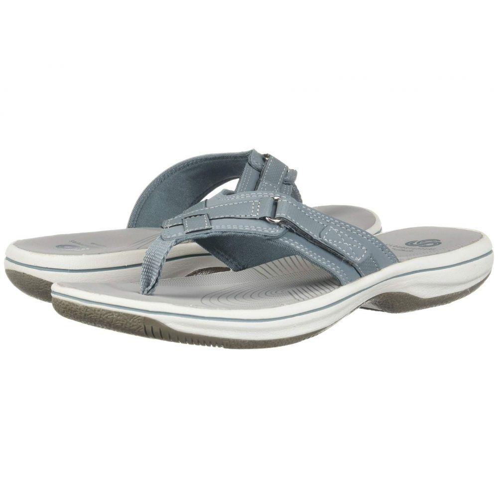 クラークス Clarks レディース ビーチサンダル シューズ・靴【Breeze Sea】Blue Grey Synthetic