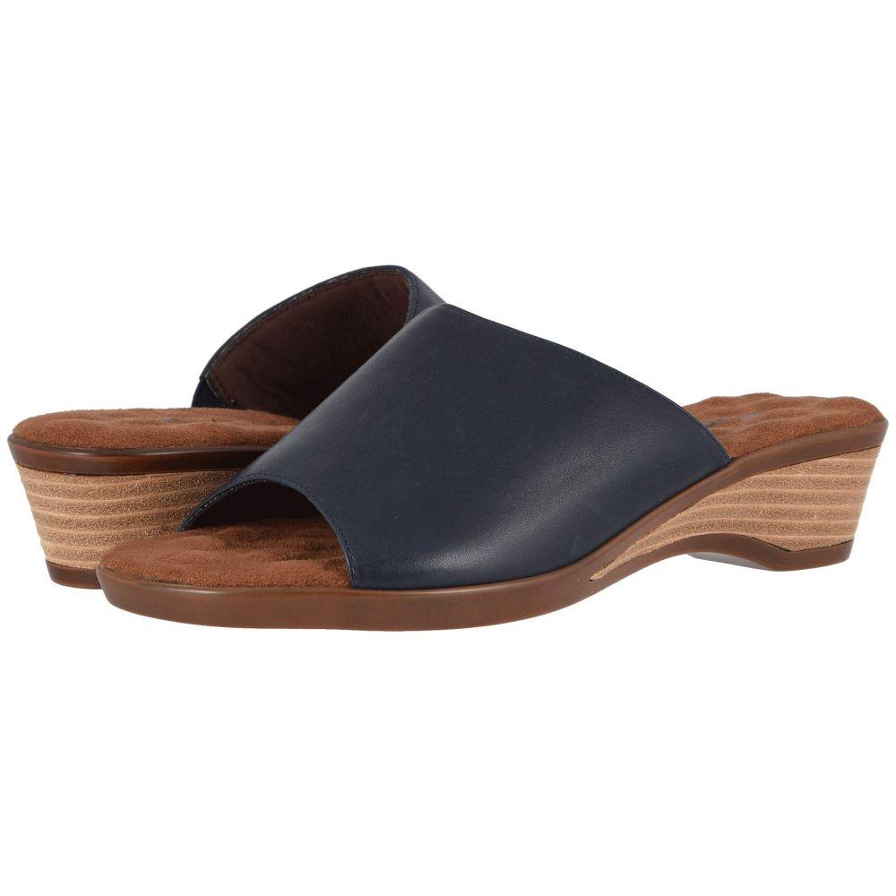 ウォーキング クレードル Walking Cradles レディース ヒール シューズ・靴【Kerry】Navy Leather