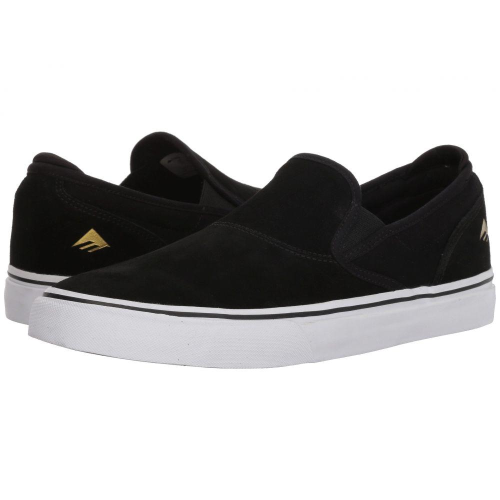エメリカ Emerica メンズ スリッポン・フラット シューズ・靴【Wino G6 Slip-On】Black/White/Gold