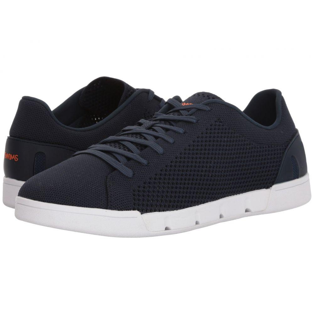 スウィムス SWIMS メンズ スニーカー シューズ・靴【Breeze Tennis Knit Sneakers】Navy/White
