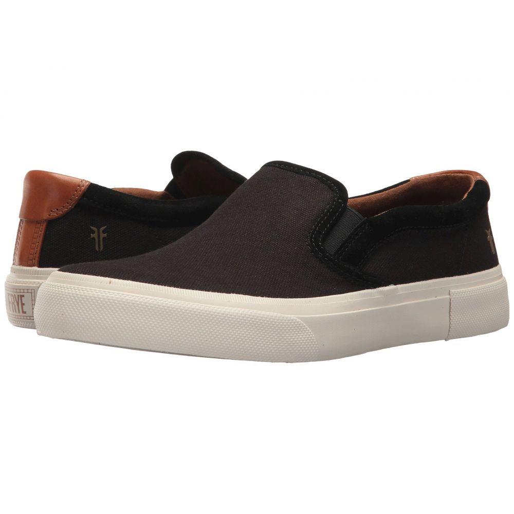 フライ Frye メンズ スリッポン・フラット シューズ・靴【Ludlow Slip-On】Black Canvas