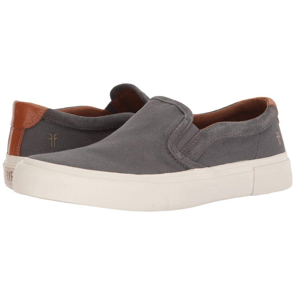 フライ Frye メンズ スリッポン・フラット シューズ・靴【Ludlow Slip-On】Grey Canvas