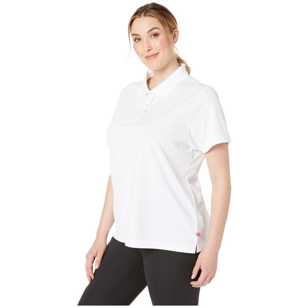 ディッキーズ Dickies レディース ポロシャツ トップス Plus Size Short Sleeve Performance Polo Whitenk8wPZNX0O