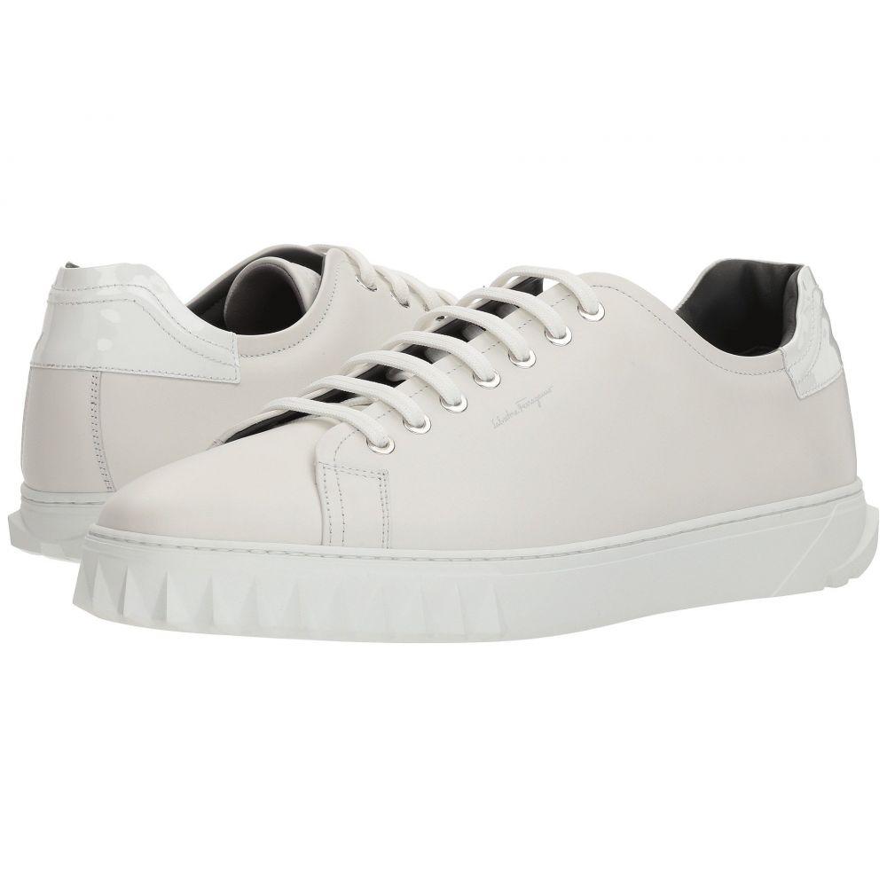サルヴァトーレ フェラガモ Salvatore Ferragamo メンズ スニーカー シューズ・靴【Cube Sneaker】Bianco