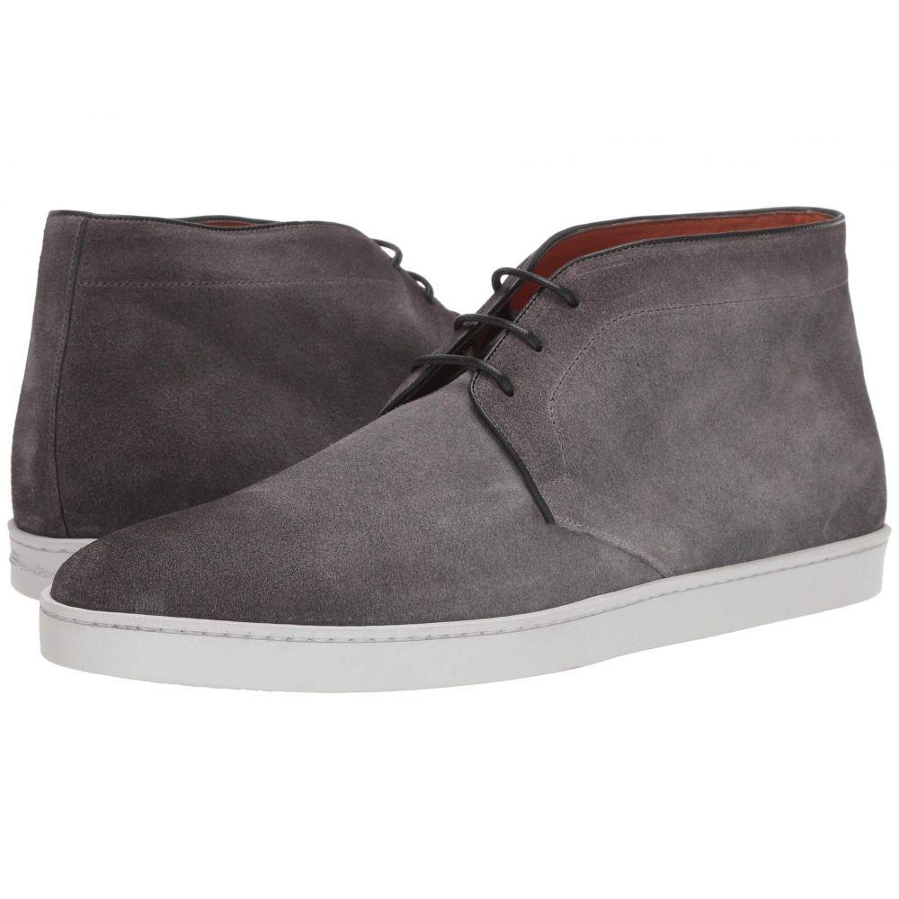 サントーニ Santoni メンズ スニーカー レースアップ シューズ・靴【Leland Lace-Up Ankle Sneaker】Grey