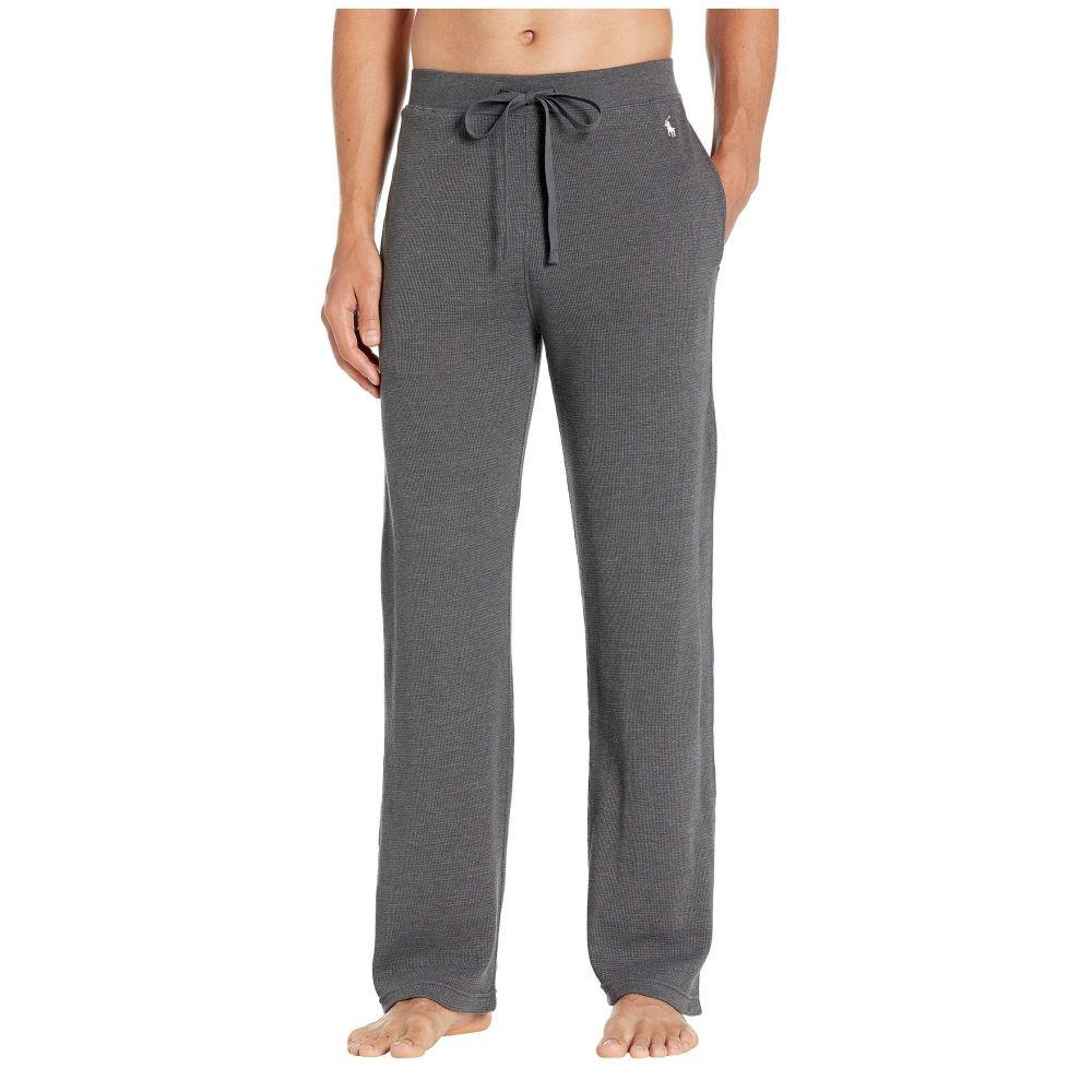 ラルフ ローレン Polo Ralph Lauren メンズ パジャマ・ボトムのみ インナー・下着【Midweight Waffle Solid Pajama Pants】Charcoal Heather/Nevis Pony Print