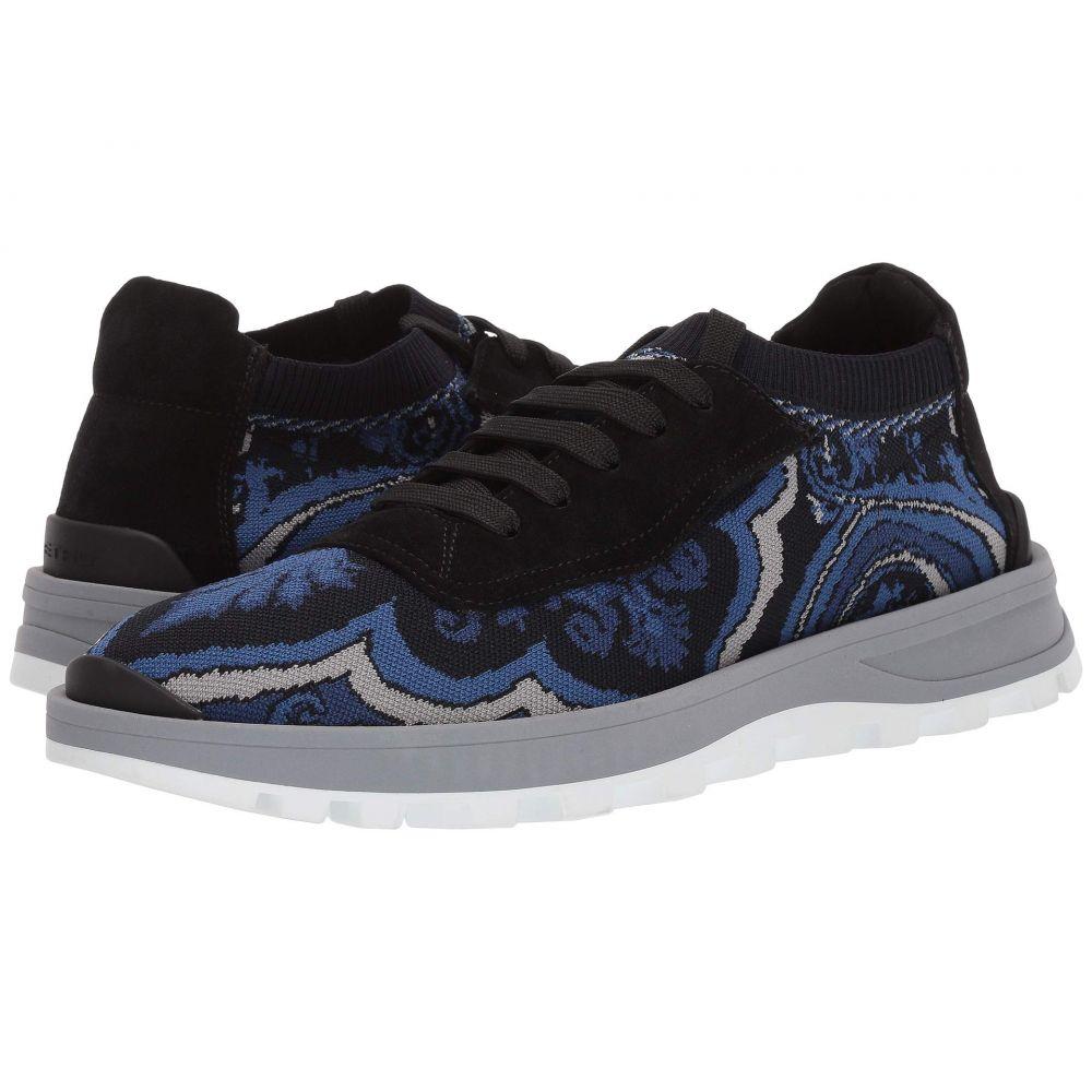 エトロ Etro メンズ スニーカー シューズ・靴【Knit Paisley Sneaker】Navy
