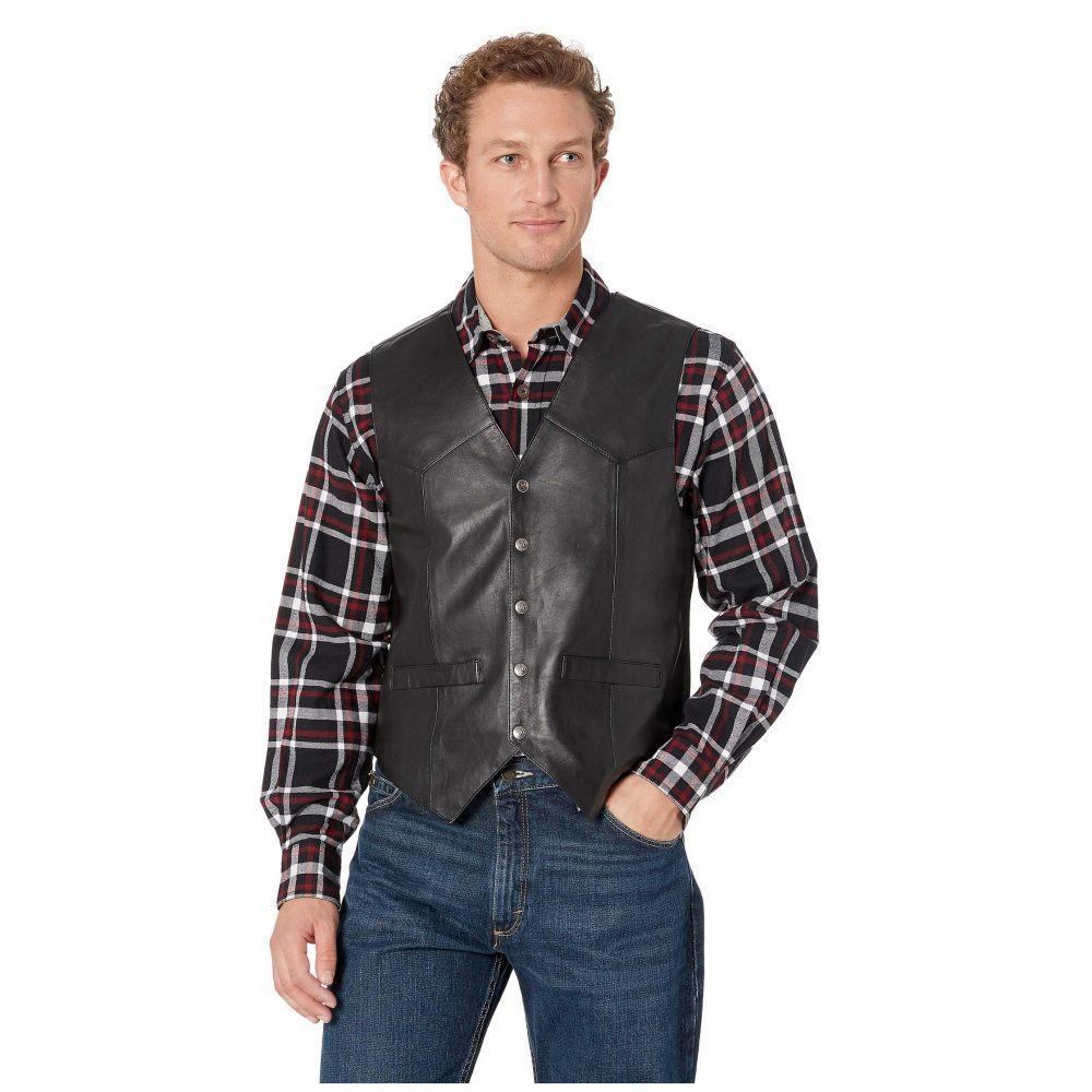 スカーリー Scully メンズ ベスト・ジレ トップス【Leather Vest】Black