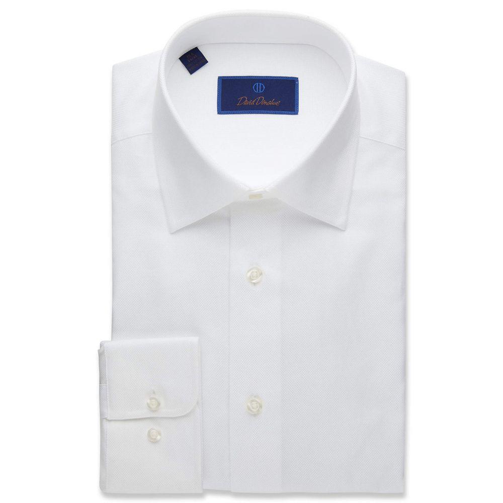 デビッドドナヒュー David Donahue メンズ シャツ トップス【Regular Fit Royal Oxford Dress Shirt】White