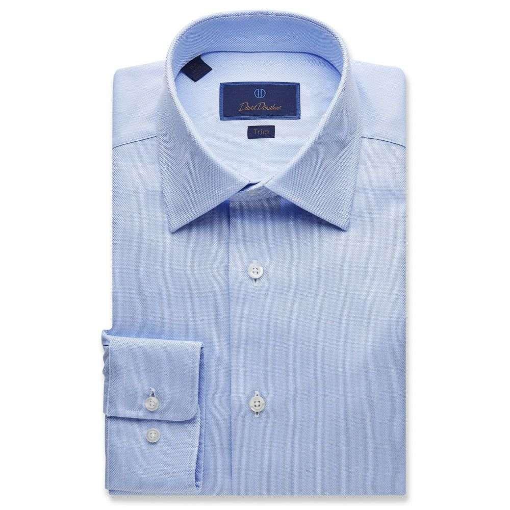 デビッドドナヒュー David Donahue メンズ シャツ トップス【Trim Fit Royal Oxford Dress Shirt】Blue
