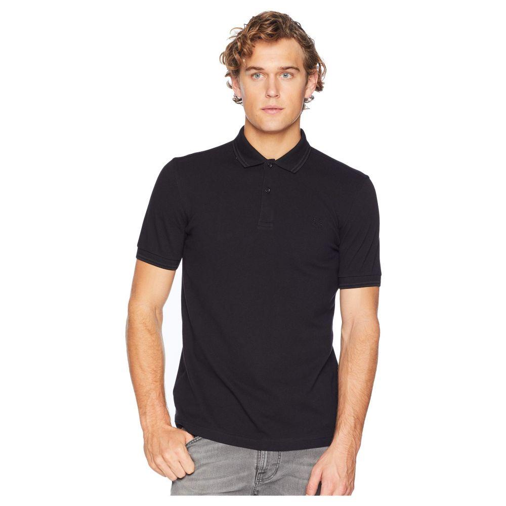 フレッドペリー Fred Perry メンズ ポロシャツ トップス【Twin Tipped Shirt】Black/Black