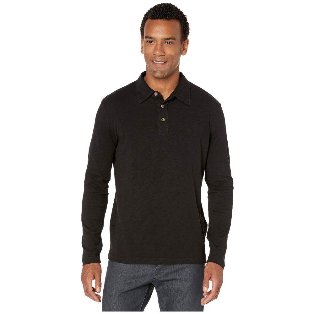 モドオードック Mod-o-doc メンズ ポロシャツ トップス【Salt Point Long Sleeve Slub Jersey Polo】Black
