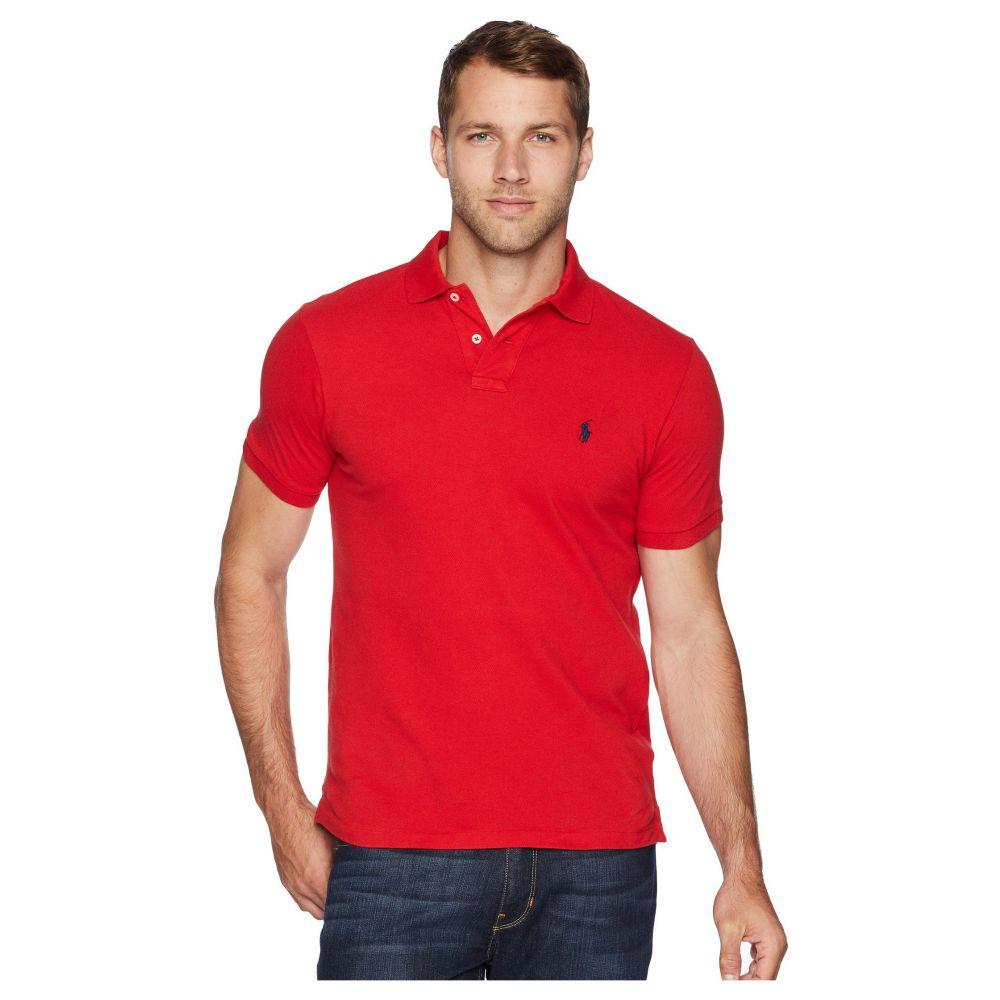 ラルフ ローレン Polo Ralph Lauren メンズ ポロシャツ トップス【Slim Fit Pique Polo】Ralph Lauren Red