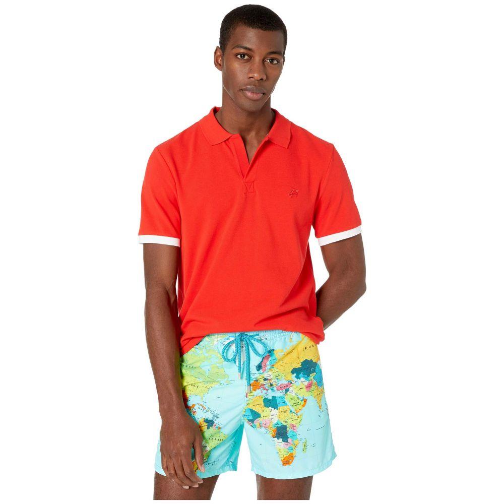 ヴィルブレクイン Vilebrequin メンズ ポロシャツ トップス【Palan Pique Cotton Polo】Medici Red