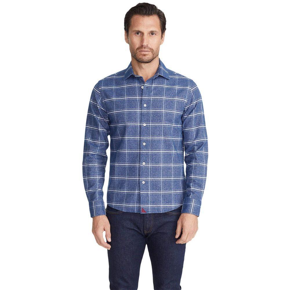 アンタックイット UNTUCKit メンズ シャツ フランネルシャツ トップス【Heavyweight Flannel Brignole Shirt】Blue/White