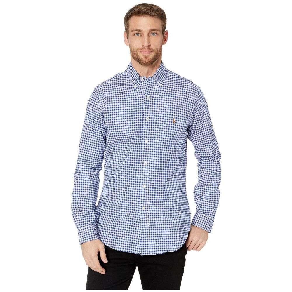 ラルフ ローレン Polo Ralph Lauren メンズ シャツ トップス【Stretch Fit Oxford Sport Shirt】BSR Royal/White Stripe