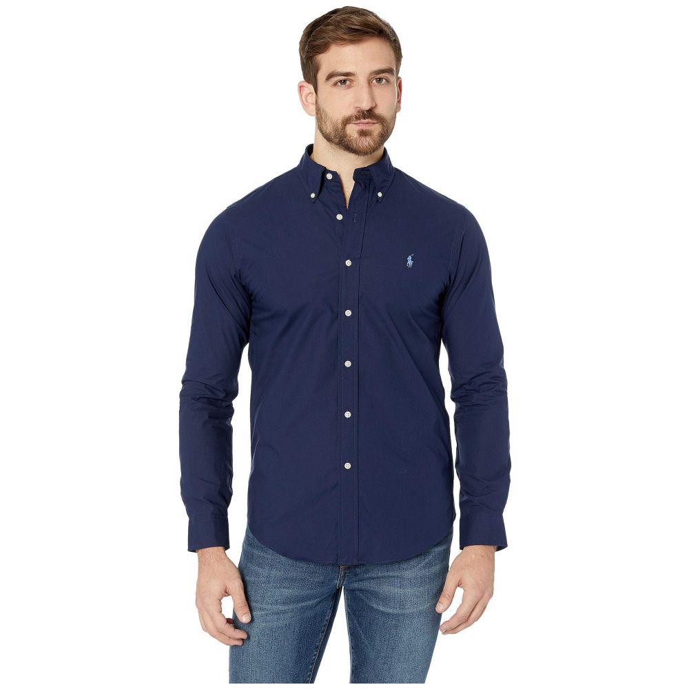 ラルフ ローレン Polo Ralph Lauren メンズ シャツ トップス【Slim Fit Poplin Sports Shirt】Newport Navy