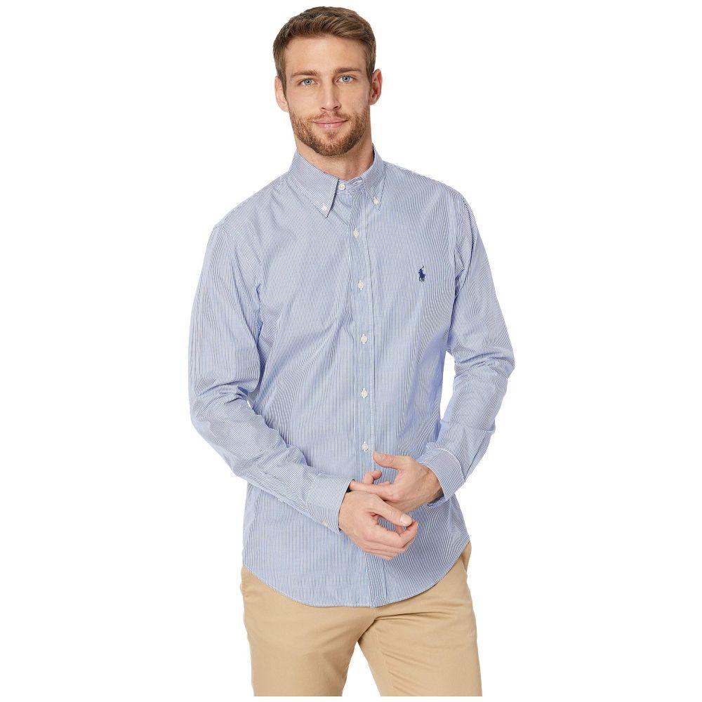 ラルフ ローレン Polo Ralph Lauren メンズ シャツ トップス【Slim Fit Poplin Sports Shirt】Blue/White Hairline Stripe