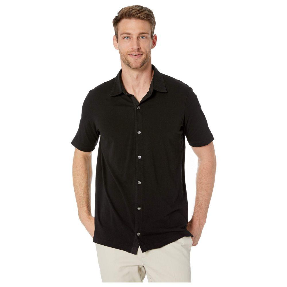 モドオードック Mod-o-doc メンズ 半袖シャツ トップス【Dana Point Short Sleeve Button Front Shirt】Black