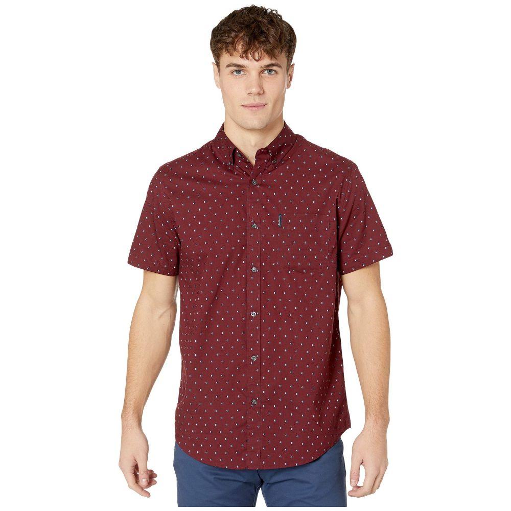 ベンシャーマン Ben Sherman メンズ 半袖シャツ トップス【Short Sleeve Multi Spot Stripe Print Shirt】Tawny Port