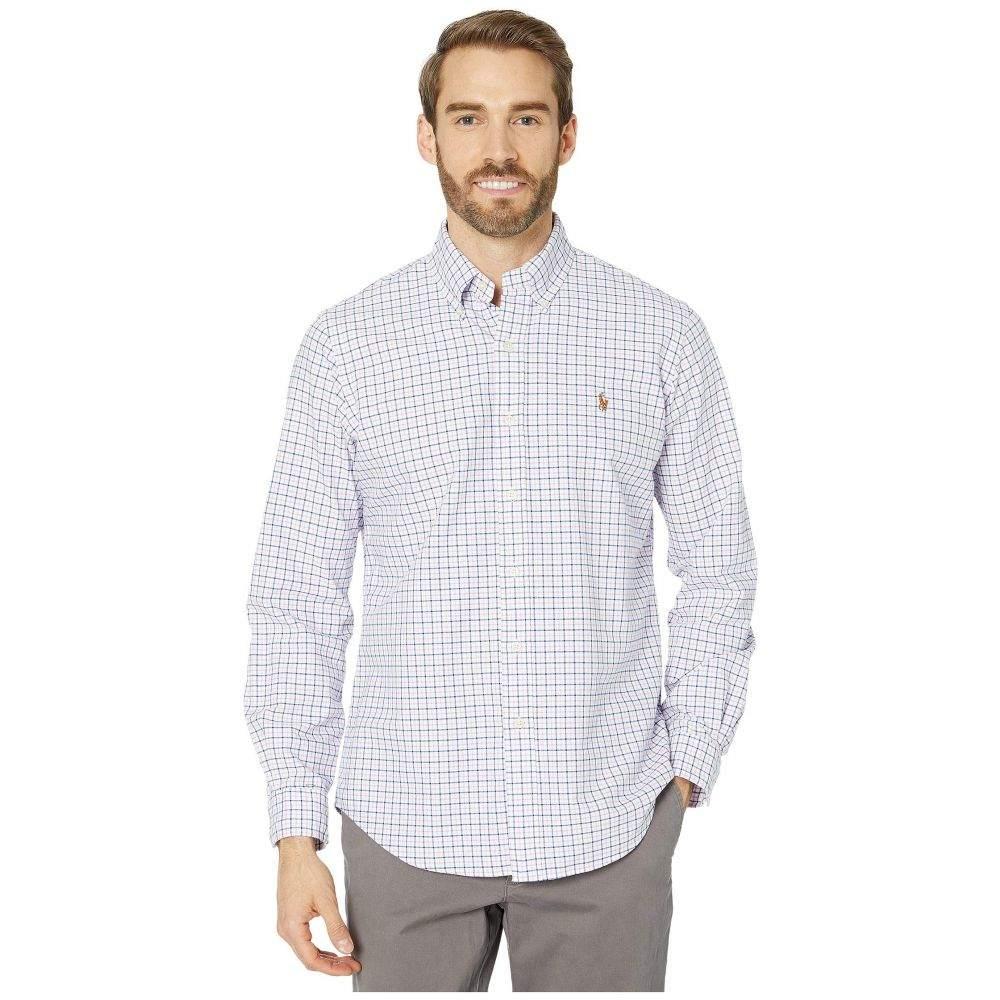 ラルフ ローレン Polo Ralph Lauren メンズ シャツ トップス【Classic Fit Long Sleeve Oxford Shirt】Dark Royal/Pink