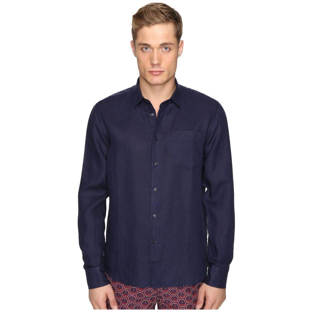 ヴィルブレクイン Vilebrequin メンズ シャツ トップス【Linen Long Sleeve Button Up】Navy