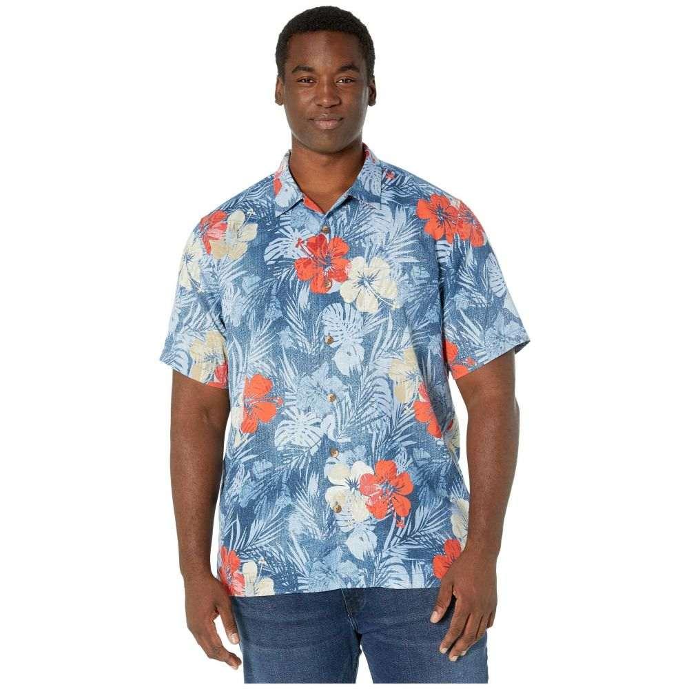 トミー バハマ Tommy Bahama Big & Tall メンズ シャツ 大きいサイズ トップス【Big & Tall Mahalo Mirage】Dockside Blue