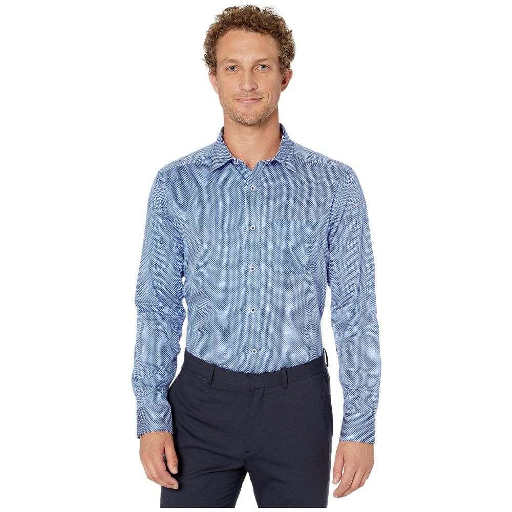 ジョンストン&マーフィー Johnston & Murphy メンズ シャツ トップス【Shadow Dot Print Shirt】Blue