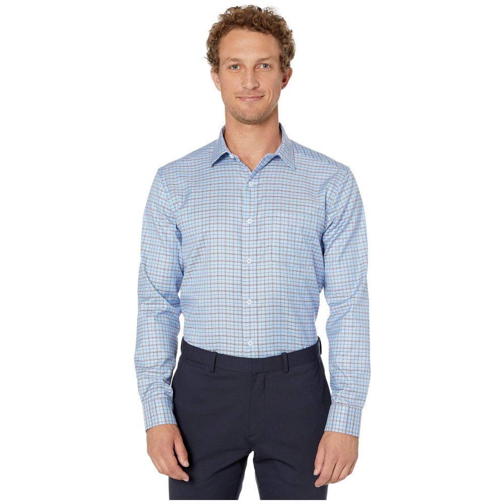 ジョンストン&マーフィー Johnston & Murphy メンズ シャツ トップス【XC4 Arrow Rope Check Shirt】Blue/Burgundy