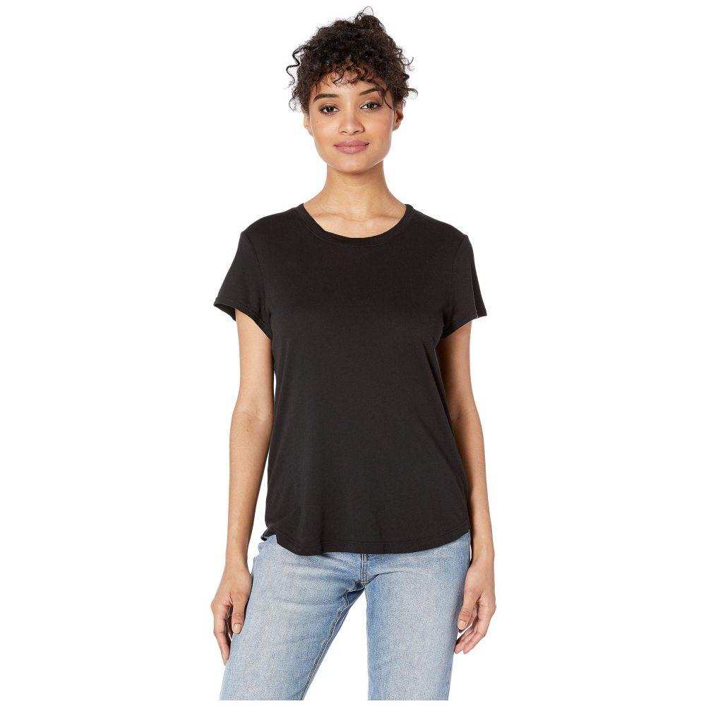 スプレンディッド Splendid レディース Tシャツ トップス【Abbie Short Sleeve Modal Jersey Crew Tee】Black