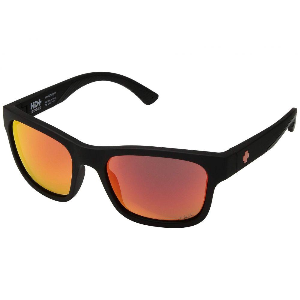 スパイ Spy Optic レディース メガネ・サングラス 【Hunt】Dale Jr/Matte Black/HD Plus Gray Green/Orange Spectra Mirror