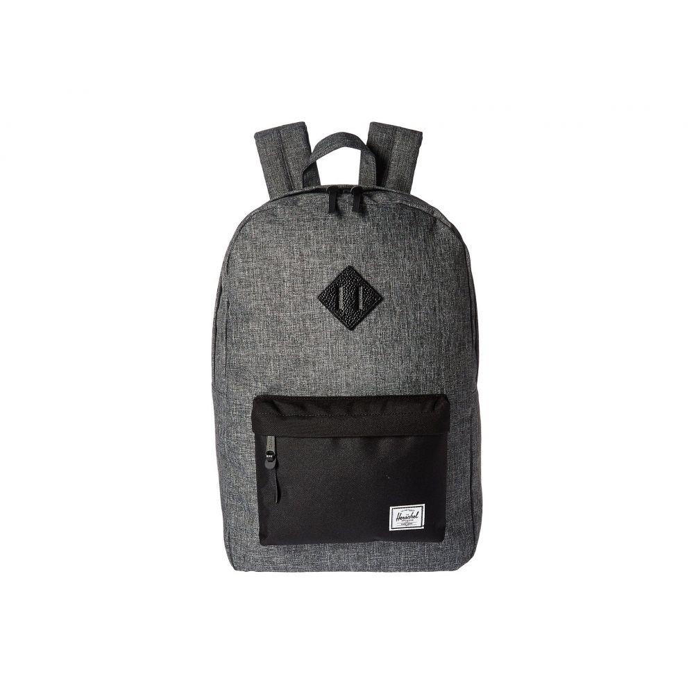 ハーシェル サプライ Herschel Supply Co. レディース バックパック・リュック バッグ【Heritage】Raven Crosshatch/Black/Black Pebbled Leather