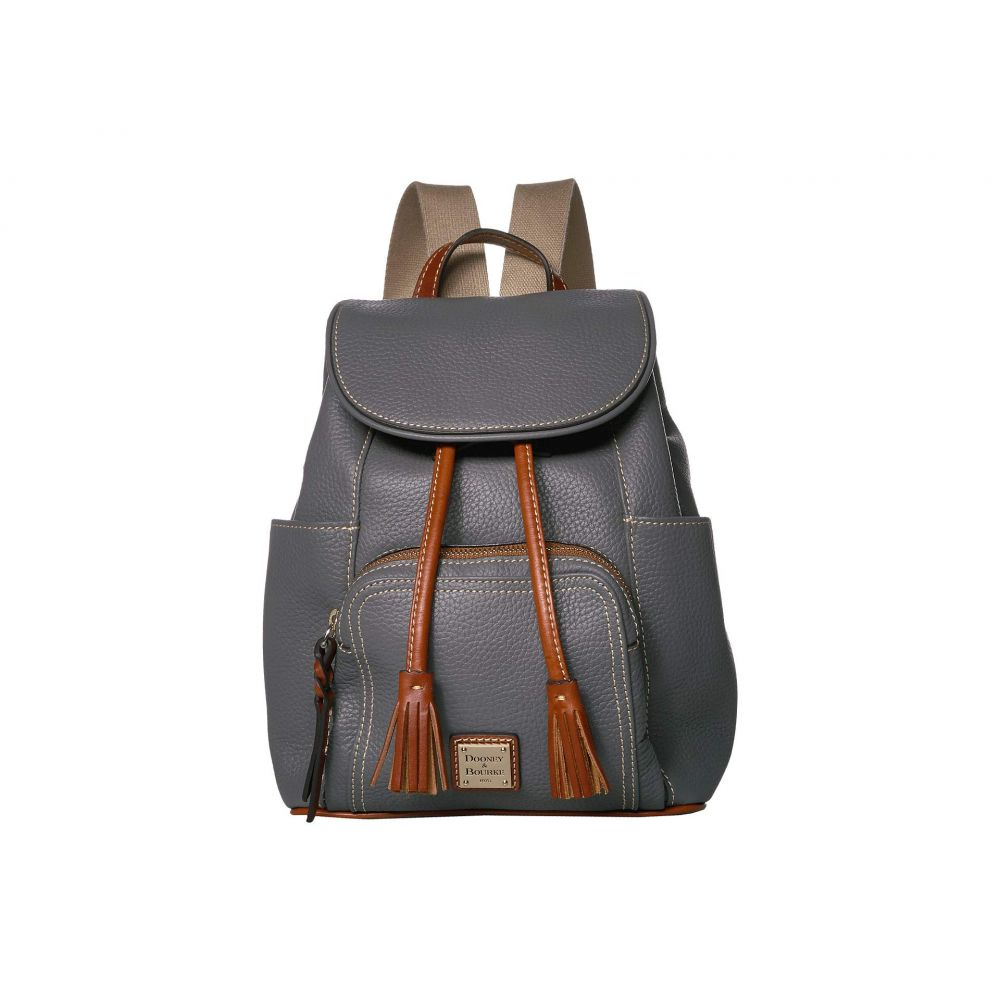 ドゥーニー&バーク Dooney & Bourke レディース バックパック・リュック バッグ【Pebble Medium Murphy Backpack】Slate/Tan Trim