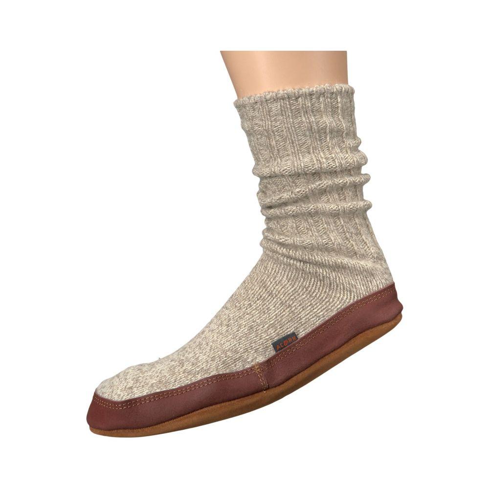 エーコーン Acorn レディース スリッパ シューズ・靴【Slipper Sock】Light Gray Ragg Wool