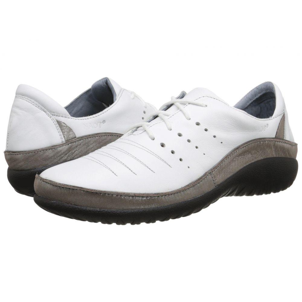 ナオト Naot レディース ローファー・オックスフォード シューズ・靴【Kumara】White Leather/Silver Threads Leather