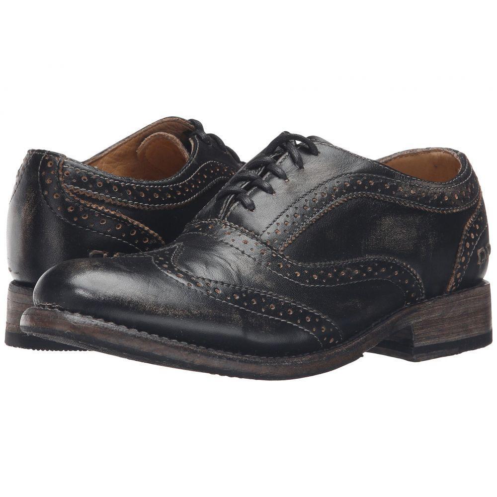 ベッドステュ Bed Stu レディース ローファー・オックスフォード シューズ・靴【Lita】Black Handwash Leather