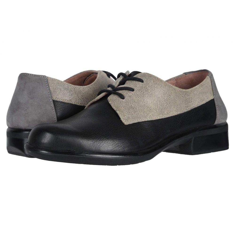 独特の上品 ナオト Naot レディース ローファー・オックスフォード シューズ・靴【Kedma】Soft Black Leather/Speckled Beige Leather/Smoke Gray Nubuck, YOUPLAN ae7cd8dd